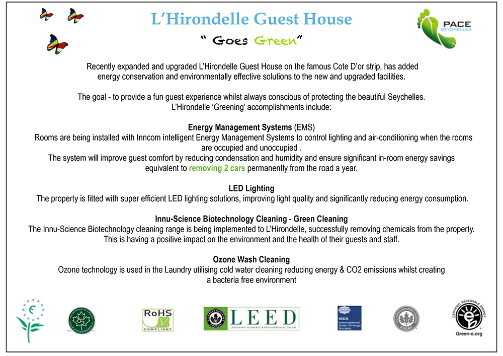 "L""hirondelle Goes Green Article"