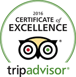 Tripadvisor certificate excellence 2016